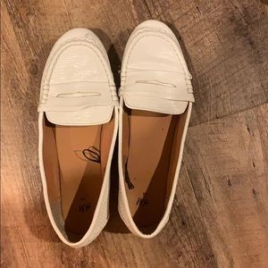 White H&M loafers